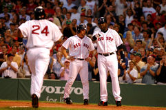 Manny Ramirez, Bill Mueller and David Ortiz MLB Royalty Free Stock Photo