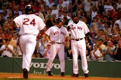 Manny Ramirez, Bill Mueller e David Ortiz MLB Fotografia Stock Libera da Diritti