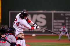 Manny Ramirez, Boston Red Sox. Former Boston Red Sox slugger Manny Ramirez swings and misses Royalty Free Stock Images
