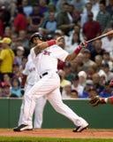 Manny Ramirez. Boston Red Sox slugger Manny Ramirez batting against the Anaheim Angels. (image taken from color slide Stock Photo