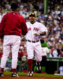 Manny Ramirez introduced to the fans. Stock Photography