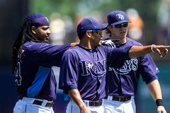 Manny Ramirez, Ray Olmedo, and Evan Longoria Royalty Free Stock Image