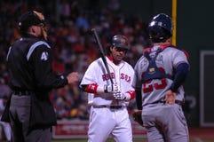 Manny Ramirez steps to bat. Stock Image
