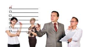 Mannzeichnungsauswahlkästchen stockfoto
