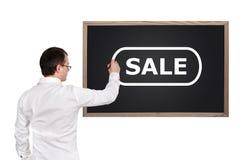Mannzeichnungsverkauf Lizenzfreie Stockfotos