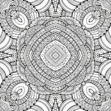 Mano étnica de la naturaleza decorativa abstracta del vector Fotos de archivo