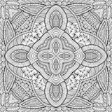 Mano étnica de la naturaleza decorativa abstracta del vector Imágenes de archivo libres de regalías