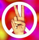 mano 3D con la muestra de paz Foto de archivo libre de regalías