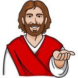 Mano abierta de Jesús ilustración del vector