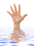 Mano in acqua Fotografie Stock
