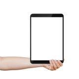 Mano adolescente femenina que sostiene la PC genérica de la tableta con Imagenes de archivo