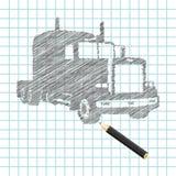 Mano-ahogue el bosquejo del carro Ilustración del Vector
