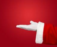 Mano aperta del Babbo Natale Immagini Stock Libere da Diritti