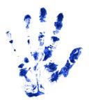 Mano azul Imagen de archivo libre de regalías