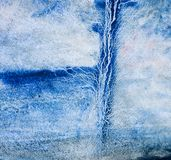 Mano azul de la acuarela dibujada para el diseño del texto, web Elemento frío abstracto de la textura del grano del papel de la ilustración del vector