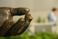 Mano Bronze della statua Immagine Stock Libera da Diritti