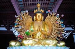 Mano Buddha del bronzo 1000 Fotografia Stock Libera da Diritti