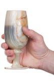Mano, calice del onyx Fotografia Stock