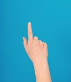 Mano che fa un tocco o che indica gesto Fotografie Stock Libere da Diritti