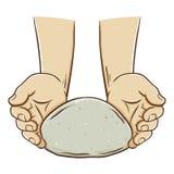 Mano che produce pasta per cuocere royalty illustrazione gratis