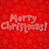 Mano che segna il segno con lettere decorato di Buon Natale Fotografia Stock Libera da Diritti