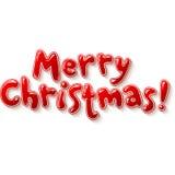 Mano che segna il segno con lettere di Buon Natale isolato Fotografia Stock