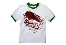 Mano che tiene camicia sporca Immagini Stock Libere da Diritti