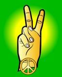 Mano come simbolo di pace Fotografie Stock Libere da Diritti