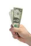 Mano con el dinero Fotos de archivo libres de regalías