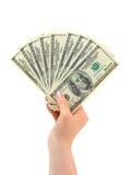 Mano con el dinero imagen de archivo libre de regalías