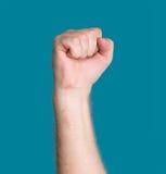 Mano con el puño apretado Imagen de archivo libre de regalías