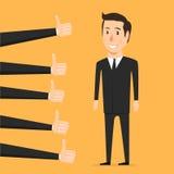 Mano con el pulgar para arriba Persona de la aprobación ilustración del vector