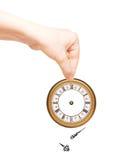 Mano con el reloj fotos de archivo libres de regalías
