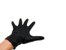 Mano con guantes fotos de archivo