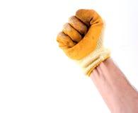 Mano con guantes Foto de archivo libre de regalías