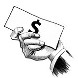 Mano con i soldi Fotografia Stock