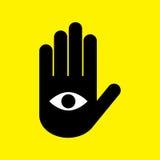 mano con l'occhio Fotografie Stock Libere da Diritti