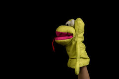 Mano con la marioneta Fotos de archivo