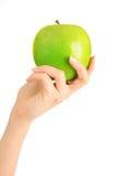 Mano con la mela Fotografia Stock Libera da Diritti