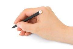 Mano con la penna immagini stock