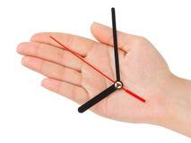 Mano con las reloj-manos foto de archivo