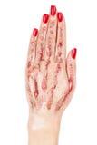 Mano con le dita insieme. Fotografia Stock Libera da Diritti