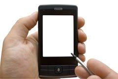 Mano con PDA Fotografia Stock