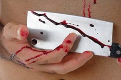 Mano con sangre Foto de archivo libre de regalías