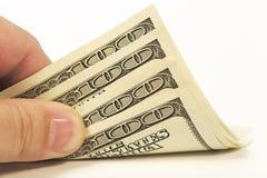 Mano con soldi Immagini Stock Libere da Diritti