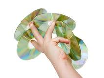 Mano con un CD Fotos de archivo