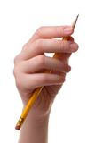 Mano con una matita Immagine Stock
