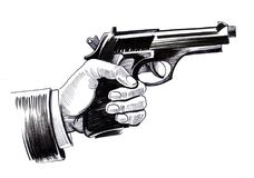 Mano con una pistola Fotografie Stock