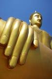 Mano de Buda de oro Fotografía de archivo libre de regalías