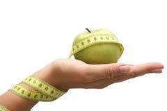 Mano de la dieta Imagen de archivo libre de regalías